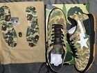Bathing Ape Bape SK8 Sta ABC Camo Green DS Size 10 💨OVERNIGHT SHIPPING INCLUDED