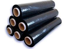 240 Rollen Palettenfolie Wickelfolie Stretchfolie 23my 500mm x ca. 300m schwarz