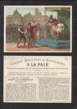 1880s GRANDS MAGASINS de NOUVEAUTES LOUIS 1er FRENCH VICTORIAN TRADE CARD