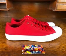 Converse All Star Chuck Taylor All Star Low Top Red/White 150151C Lunarlon Sz 11