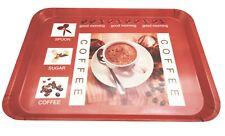 Rectangular Melamine Coffee Serving Kitchen Tray, 18 x 12.8 Inches
