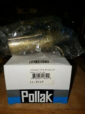 Pollak single pin plug # 11-852P, lot of 4