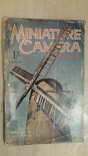 VINTAGE MAGAZINE: THE MINIATURE CAMERA MAGAZINE - JULY 1938 VOL.II NO.8