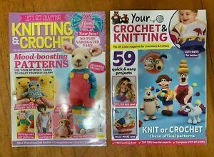 2 x Knit & Crochet Magazines