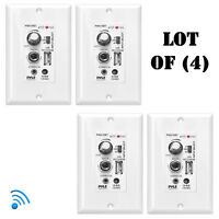 Lot of (4) Pyle Bluetooth In-Wall Receiver, Wall Plate Audio Control Amplifiers