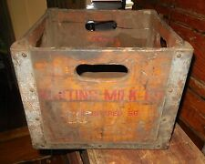 """Vintage Whiting Wooden/Metal  Box 13"""" x 13"""" x 10""""  1956"""