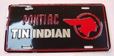 Tin Indian Pontiac GTO Firebird Front / Rear Bumper License Plate Metal Embossed