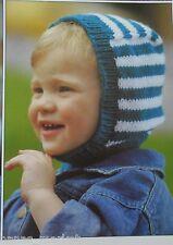 HATS, BALACLAVA, SNOOD, MITTENS - Children's DK Knitting Pattern * 2 - 12 years