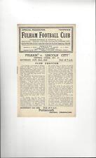Fulham v Lincoln City Football Programme 1948/49