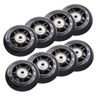8 Pack Inline Skate Wheels Beginner's Roller Blades Replacement Wheel with Be w0