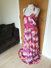 Ladies ET VOUS Dress Size 20 Pink Long Maxi Party Evening Cruise Halter