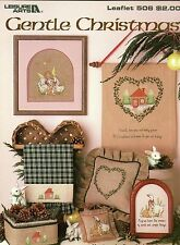 Vintage Leisure Arts Cross Stitch Pattern Gentle Christmas for Linen, Davosa etc
