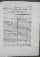 1789 'NUOVO GIORNALE D'ITALIA': MALATTIE DEL FRUMENTO CARBONE FOSSILE DALMAZIA