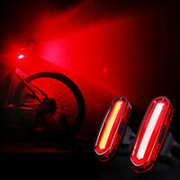 CW/_ Waterproof USB Rechargeable Hiking Cycling Bicycle Light Warning Tail Lamp C