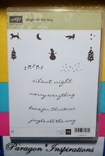Stampin Up JINGLE ALL THE WAY Clear Mount Stamps Christmas Holidays Dog Snowman