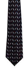 Men's New Silk Neck Tie, Classic, Wide Dark Red Gray wave design by Monterey Bay