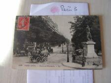 carte postale  vers 1900  boulevard malesherbes