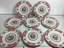 "Royal Albert ""Lady Carlyle"" 8"" Salad Plates Set Of 8"