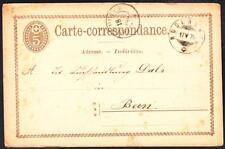 19th Century 1875 RUDERSWIL to BERN SWITZERLAND Cover (3296y)