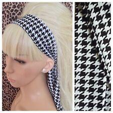 Bufanda cuadros de cabeza de gallo negro blanco pelo banda Self Corbata Arco 50s 60s Retro