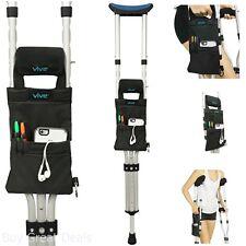 Crutch Crutch Accessories Bag by Vive - Medical Crutch Accessory Carryall Pouch