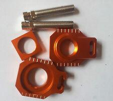 RFX KTM Blocca Asse Tenditore Catena Arancione EXC 125 250 200 300 350 400 450