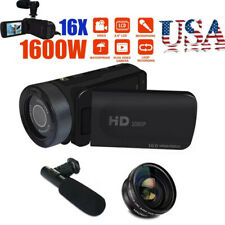 HD 1080P Digital Video Camera Camcorder 16X Zoom Vlogging Recorders W/Microphone