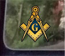 "ProSticker 002 (10pk) 2"" Masonic Compass Square Decals Stickers"