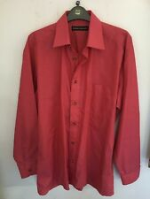 Vintage 90's Mens Rose Long Sleeve Shirt by Peter England Size 15.5 collar