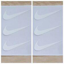 "6 Nike Iron On Swoosh White Logos 2"" Inch Heat Transfer Vinyl HTV FREE SHIPPING!"