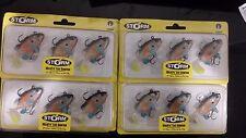4 packs brand new Storm wildeye live sunfish soft plastic fishing lures,6cm