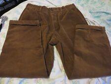 "Brooks Bros Elliot Brown Wide Wale Cuff Corduroy Trousers 36""W EUC"