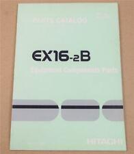 Hitachi EX16-2B Excavator ERsatzteilliste in engl Parts List Equipment Component