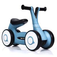 Baby Balance Bike Bicycle Mini Kids Walker Toddler Toys Rides No-Pedal Blue