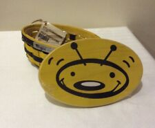 Longaberger 2009 Bee Basket Set - Includes Basket, Protector,  Lid & Card!