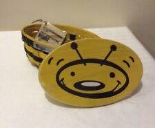 Longaberger 2009 Bee Basket Set - Includes Basket, Protector, Lid & Card!