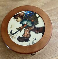 Reuge Hanging Swiss Movement Wood Framed Picture Music Box