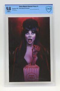 Elvira Meets Vincent Price (2021) #1 Virgin FOC 1 In 7 CBCS 9.8 Blue Lbl WH Pgs