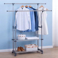 Back2Home - Clothes Hanger Rack for Garments Rolling Portable