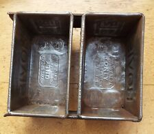 More details for two used vintage metal hovis bread loaf tin 6 inch
