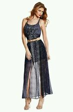 GUESS BY MARCIANO KIM SNAKE-PRINT MAXI DRESS