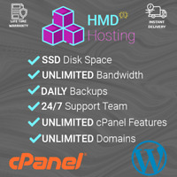 Wordpress Web Hosting Fast SSD cPanel with Softaculous for 1 Year