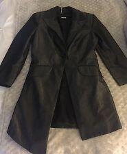 BEBE KIM KARDASHIAN COLLECTION Dark Grey Coat Jacket Trench Asymmetrical line 0
