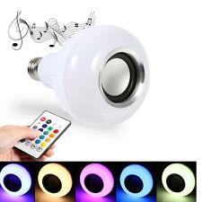 White Plastic E27 12W Bluetooth LED RGB Light Bulb Music Lamp Ball Bubble Lamp