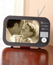 Retro TV Shaped Photo Picture Frame Shelf Display Nostalgia Vintage Style Decor