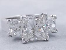 5.88 CARATS TW PRINCESS CUT DIAMOND ENGAGEMENT RING G SI2