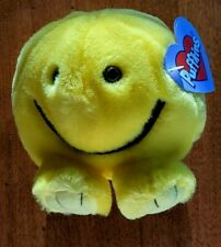 """SWIBCO PUFFKINS """"HAPPY"""" YELLOW SMILEY PLUSH MWMT **** SHIPS FOR FREE!!!!****"""