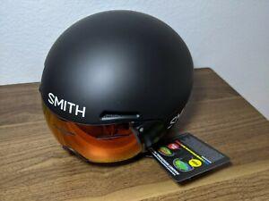 New Smith Podium TT MIPS Helmet Matte Black Bike Medium Aero with Carrying Case