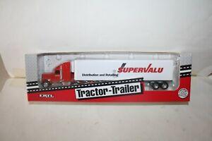 INTERNATIONAL NAVISTAR SEMI with SUPERVALU TRAILER DIECAST-1/64-BOX-NICE-92 ERTL