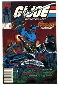 G.I. JOE #132 1993- late issue low print run- Snake Eyes FN